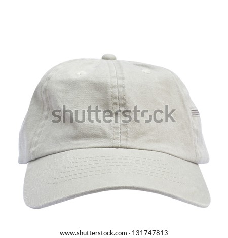 Beige cap isolated on white background