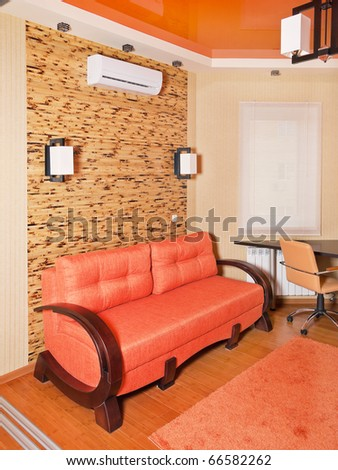 Beige interior of modern office