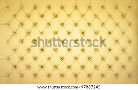 Beige Luxury buttoned leather pattern. Large resolution - stock photo
