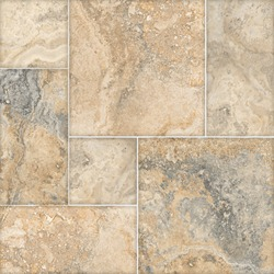 Beige mosaic mixed stone background, digital floor tile design, rock texture