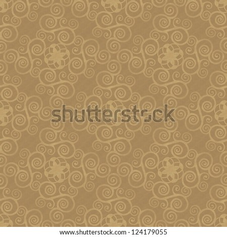 beige seamless background with vintage stylized ornament - stock photo