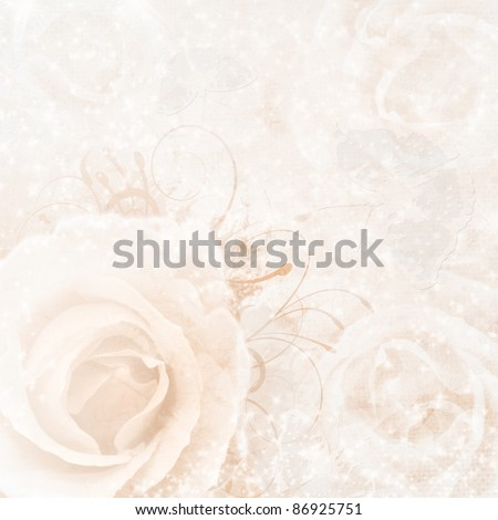 stock photo beige wedding background with roses