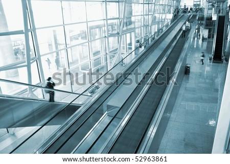Beijing airport escalator