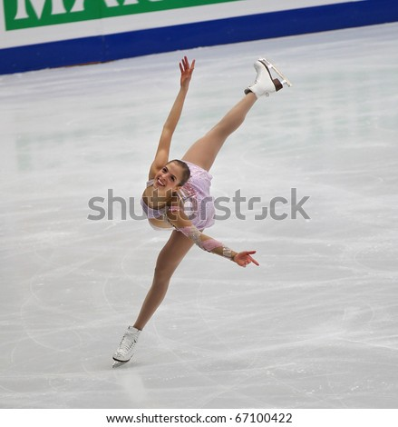 BEIJING-DEC 11: Carolina Kostner of Italy performs in the Ladies-Free Skating event of the ISU Grand Prix of Figure Skating Final on Dec 11, 2010 in Beijing, China.