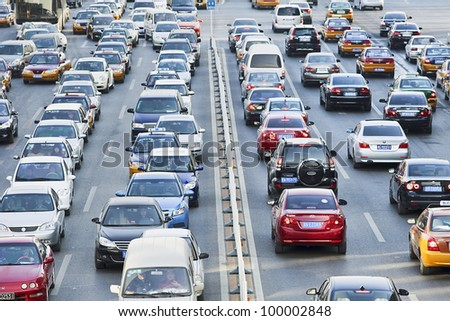 BEIJING DEC 19 2011 Daily traffic jams in Beijing on Dec 19 2011 There are already 4.7 million cars on Beijing's streets Recently the government took tough measures avoid a double by 2015