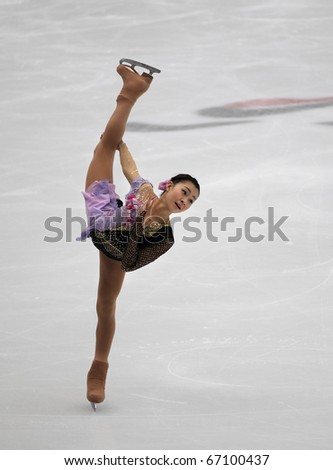 BEIJING-DEC 11: Kanako Murakami of Japan performs in the Ladies-Free Skating event of the ISU Grand Prix of Figure Skating Final on Dec 11, 2010 in Beijing, China.