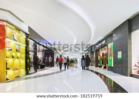 BEIJING-DEC 29 2013 Luxury shopping mall interior Within a few years China becomes the largest luxury goods market Its luxury market is forecast by McKinsey to soar to US$27 billion by 2015