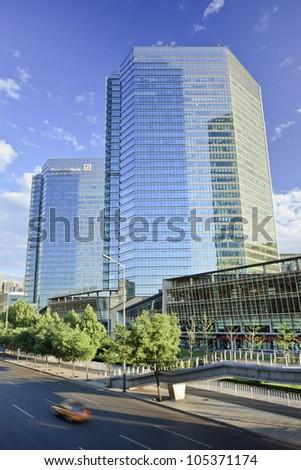 BEIJING�JUNE 16, 2012. Deutsche Bank on June 16, 2012 in Beijing. German Deutsche Bank is grows  continuously in North America, Asia and key emerging markets. It has 77,920 employees in 75 countries.