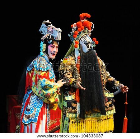 Постер, плакат: Actors of the Beijing, холст на подрамнике