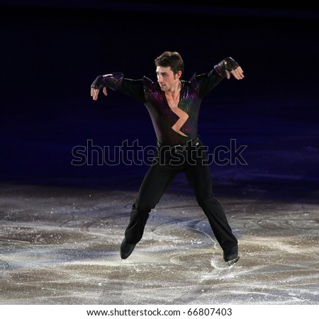 BEIJING - NOV 7: Brian Joubert of France performs in the Gala Exhibition event of the SAMSUNG Cup of China ISU Grand Prix of Figure Skating 2010 on Nov 7, 2010 in Beijing, China.