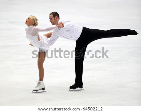 BEIJING - NOV 6 : Caitlin Yankowskas / John Coughlin of USA perform in the Pairs-Free Skating event of the SAMSUNG Cup of China ISU Grand Prix of Figure Skating 2010 on Nov 6, 2010 in Beijing, China.