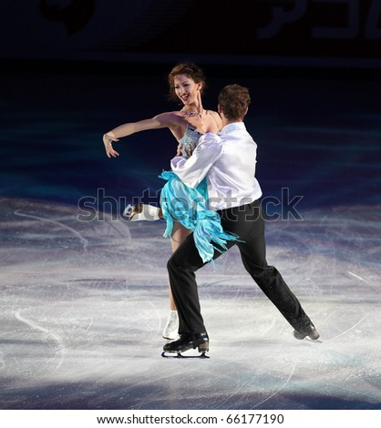 BEIJING-NOV 7: Nora Hoffmann and Maxim Zavozin of Hungary perform in the Gala Exhibition event of the SAMSUNG Cup of China ISU Grand Prix of Figure Skating 2010 on Nov 7, 2010 in Beijing, China.