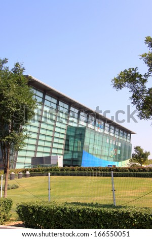 BEIJING - OCTOBER 6: The National Indoor Stadium landscape architecture on october 6, 2011, beijing, china.