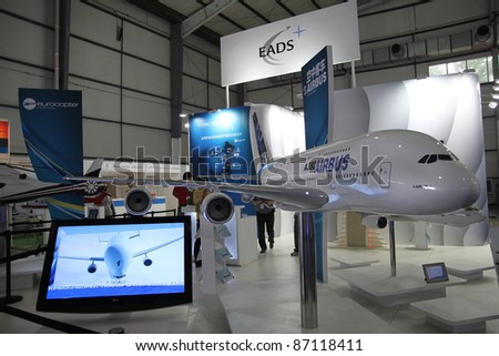 BEIJING - SEPT 25: European Aeronautic Defence and Space Company (EADS) exhibition area on display during 13th Beijing International Aviation & Aerospace Exhibition at CIEC on Sept. 25, 2009 in Beijing, China