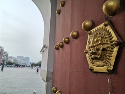 Beiling Park East gate in Liaoning,Shenyang