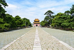 Beiling Park. The Zhaoling Tomb of the Qing Dynasty which is the mausoleum of Huangtaiji (Qing Taizong) and empress Xiao Duan Wen is just in the park. Located in Shenyang, Liaoning province, China.