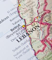 Beirut, Lebanon map