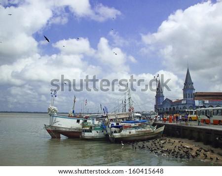 Belem harbor and market - Brazil Foto stock ©