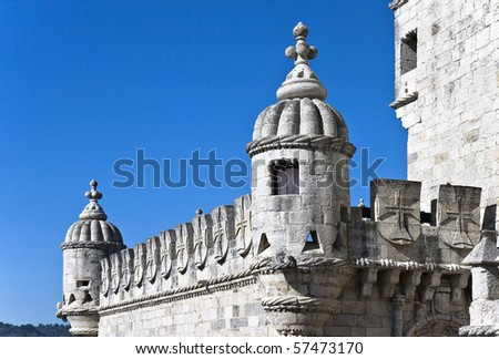 Belem Tower (Torre De Belem), a UNESCO World Heritage Site, built in the 16th century