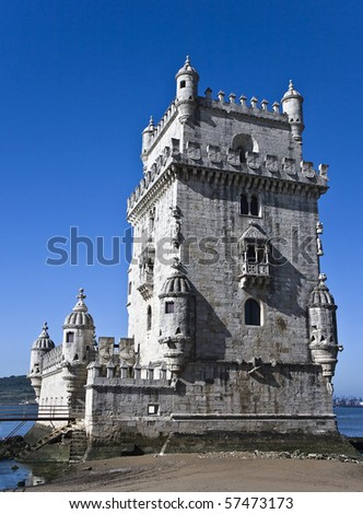 Belem Tower (Torre De Belem), a UNESCO World Heritage Site, built in the 16th century