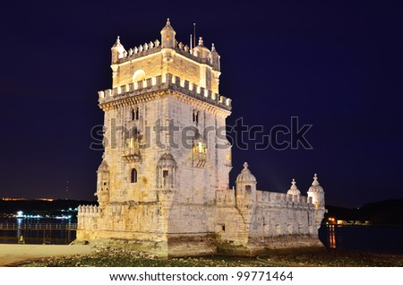 Belem Tower (Torre de Belem) is a fortified medieval tower located at the mouth of the Tagus River in Lisbon, Portugal.