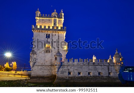 Belem Tower (Torre de Belem) is a fortified tower located at the mouth of the Tagus River in Lisbon, Portugal
