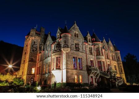 belfast castle at night
