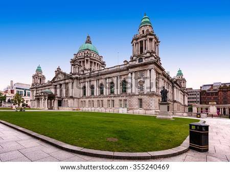 Belfast City Hall in Northern Ireland, UK