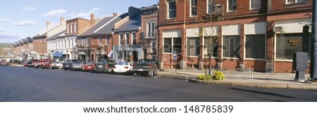 BELFAST, MAINE - CIRCA 1990\'s: Main Street in Belfast, Maine, USA