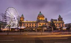 belfasts big eye and the city hall
