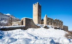 Belfort Castle in Trentino Alto Adige near Andalo Village in Non Valley, northern Italy. it is an abandoned medieval castle