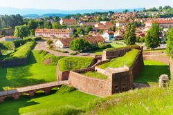 Belfort cityscape with famous citadel rampart