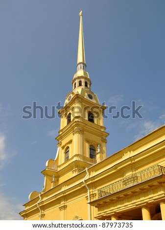 Belfry, Sts. Peter & Paul Cathedral - St. Petersburg, Russia