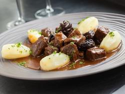 Belgian beef stew with beer