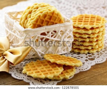 Belgian waffles for dessert and breakfast
