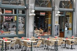 Belgium, a restaurant in the picturesque city of  Brussels