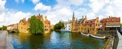 Belgium, Brugge, West Flanders, panorama