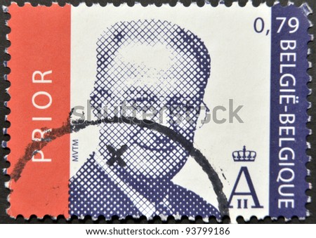 BELGIUM - CIRCA 2005: A stamp printed in Belgium shows King Albert II of Belgium, circa 2005