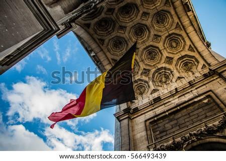 Belgium flag  #566493439
