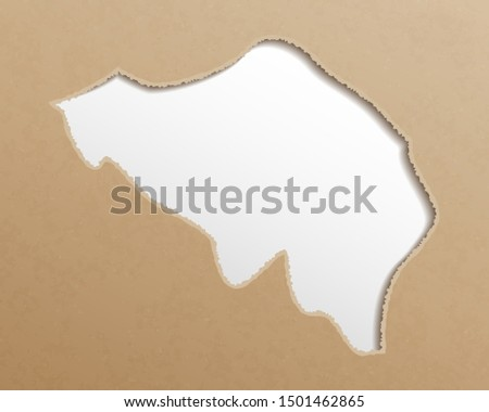 Belgium map. Belgian maps craft paper texture. Empty template information creative design element.
