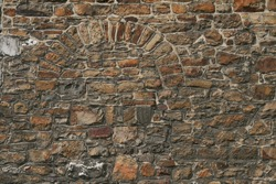 Belgium old wall,