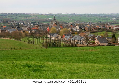 Belgium, panoramic view of Clermont. Environs Liege.