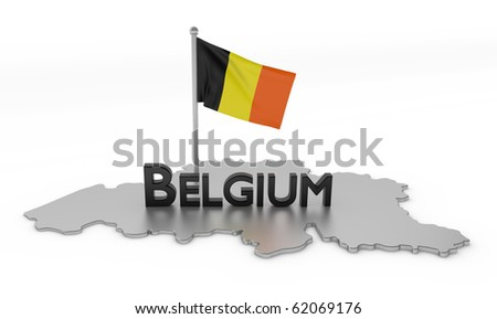 Belgium Tribute/Digitally rendered scene with flag typography