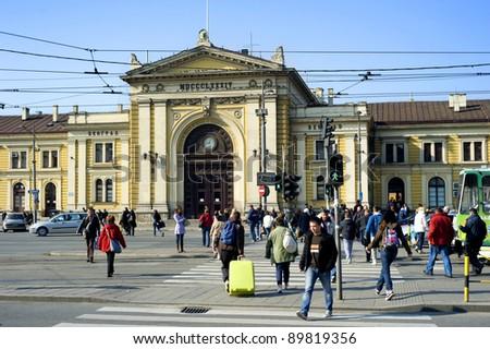 BELGRAD, SERBIA - OCTOBER 28: Belgrade Central Railway Station on October 28, 2011 in  Belgrade.  Belgrade (Beograd) main railway station was built between 1882 and 1885.