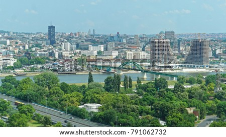 Belgrade capitol city of Serbia cityscape #791062732