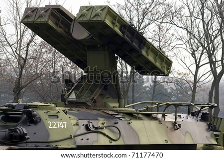 BELGRADE-FEBRUARY 13:Serbian armed forces military exercise \