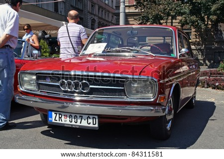 stock photo BELGRADE SEPTEMBER 3 A Audi 90 on Oldtimer's Car Show
