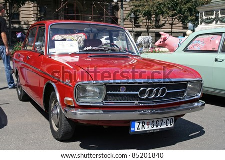 Stock Photo Belgrade September A Audi Super On Display At The Oldtimer S Motor Show On September