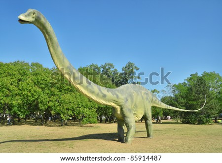 BELGRADE, SERBIA-SEPTEMBER 30:  Diplodocus, replicas of a  dinosaurs in natural size reconstructed according to the latest scientific discoveries at museum on September 30, 2011 in Belgrade, Serbia.