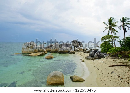 Belitung's beach, Indonesia